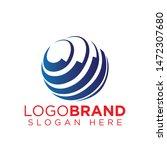 global technology logo vector...   Shutterstock .eps vector #1472307680