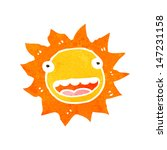 retro cartoon sun with face | Shutterstock .eps vector #147231158
