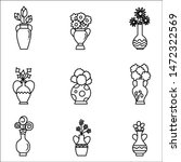 set of house plant in pots.... | Shutterstock .eps vector #1472322569
