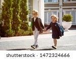 back to school. happy children...   Shutterstock . vector #1472324666