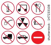 prohibition signs  set | Shutterstock .eps vector #147233108