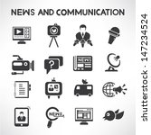 news and communication icons... | Shutterstock .eps vector #147234524