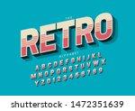 vector of stylized modern font... | Shutterstock .eps vector #1472351639
