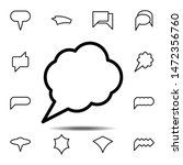 bubble  chat  star icon. simple ...