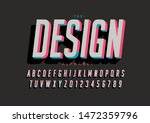 vector of stylized modern font... | Shutterstock .eps vector #1472359796