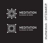 meditation room logo icon... | Shutterstock .eps vector #1472366819