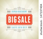 big sale advertising vintage... | Shutterstock .eps vector #147237404
