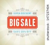 big sale advertising vintage... | Shutterstock .eps vector #147237404