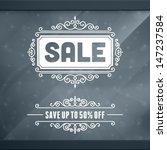 window advertising sale 50  off ... | Shutterstock .eps vector #147237584