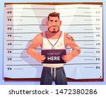 criminal mugshot front view on...   Shutterstock .eps vector #1472380286