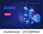 database landing page dark neon ...
