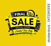 yellow final sale banner with...   Shutterstock .eps vector #1472392553