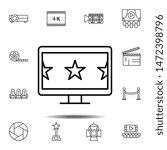 cinema  stars  tv  monitor icon....