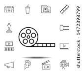 movie tape icon. simple thin...