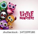 little monster with 3d...   Shutterstock .eps vector #1472399180