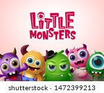 cute little monsters 3d... | Shutterstock .eps vector #1472399213