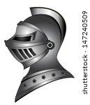 Metal Silver Medieval Helmet