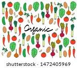vector set of vegetables... | Shutterstock .eps vector #1472405969