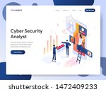 landing page template of cyber... | Shutterstock .eps vector #1472409233