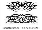 vector flat tribal tattoo... | Shutterstock .eps vector #1472410229