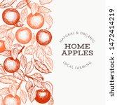 apple branch design template.... | Shutterstock .eps vector #1472414219