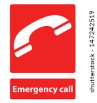 emergency call sign | Shutterstock .eps vector #147242519