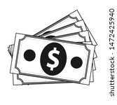 money icon  dollar pack icon in ...