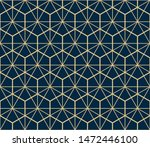 the geometric pattern with... | Shutterstock . vector #1472446100