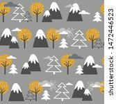 seamless pattern  mountains ... | Shutterstock .eps vector #1472446523