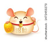 Stock vector lucky rat chinese new year year of the rat lucky rat from the lucky cat translation bringing 1472453273
