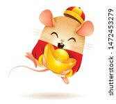 the little rat with chinese... | Shutterstock .eps vector #1472453279