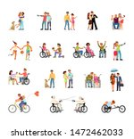 Disabled People Isolated On...