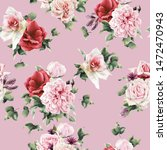 seamless floral pattern with... | Shutterstock . vector #1472470943