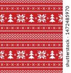 winter christmas pixel pattern... | Shutterstock .eps vector #1472485970
