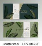 set of gift voucher template... | Shutterstock .eps vector #1472488919
