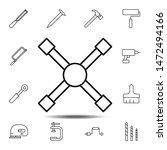 tire iron  maintenance icon....