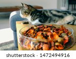 A Bowl Of Potpourri On A Table...