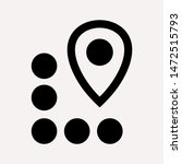 distance icon illustration... | Shutterstock .eps vector #1472515793