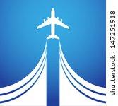 airplane symbol vector design   Shutterstock .eps vector #147251918