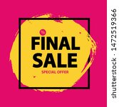 black friday sale banner... | Shutterstock . vector #1472519366