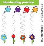 handwriting practice sheet....   Shutterstock .eps vector #1472519873