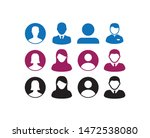 users avatar icons symbols in... | Shutterstock .eps vector #1472538080