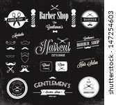 barber shop labels and icons | Shutterstock .eps vector #147254603