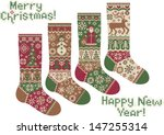 Knitted Socks. Merry Christmas...