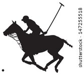 black silhouette of a polo...   Shutterstock .eps vector #147255518