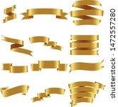 gold ribbon set inisolated for... | Shutterstock .eps vector #1472557280