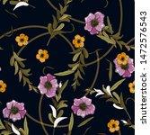 gold braids summer elements in...   Shutterstock .eps vector #1472576543