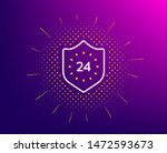24 hours protection line icon....   Shutterstock .eps vector #1472593673