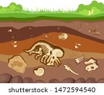soil ground layers with buried... | Shutterstock .eps vector #1472594540
