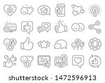 social media line icons. set  ... | Shutterstock .eps vector #1472596913